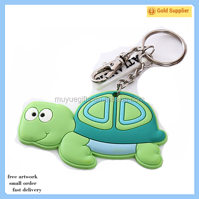 Good quality rubber key chain / custom pvc keychain / plastic silicone keychain