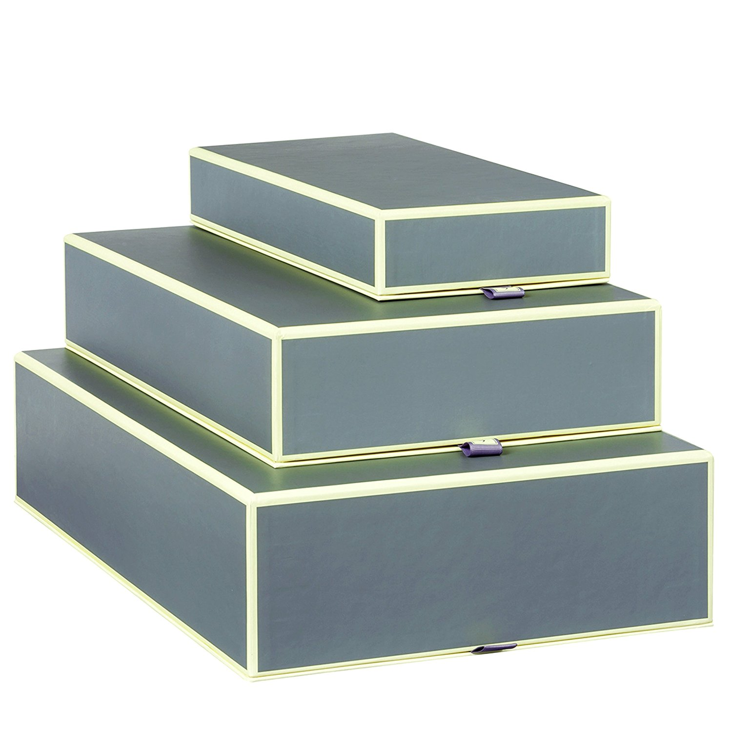 Set of 3 rectangular boxes anthrazit +++ STORAGE- or GIFT BOXES +++ Quality made by Semikolon