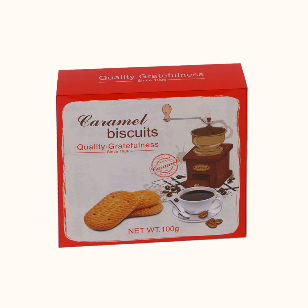 delicious Caramel Biscuits 100g in Boxes
