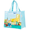 cotton coated PVC shopping bag / custom recyclable shopping bag wholesale / waterproof cotton shopping bag