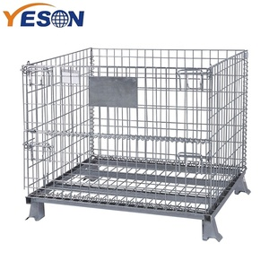 Factory Foldable stainless steel wire mesh metal pallet Storage Cage wire mesh container