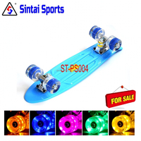 rocking cool Flashing LED light wheels complete skateboard for adults