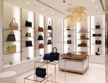 Modern Bag Showcase For Bag Shop Interior Design For Handbag Store