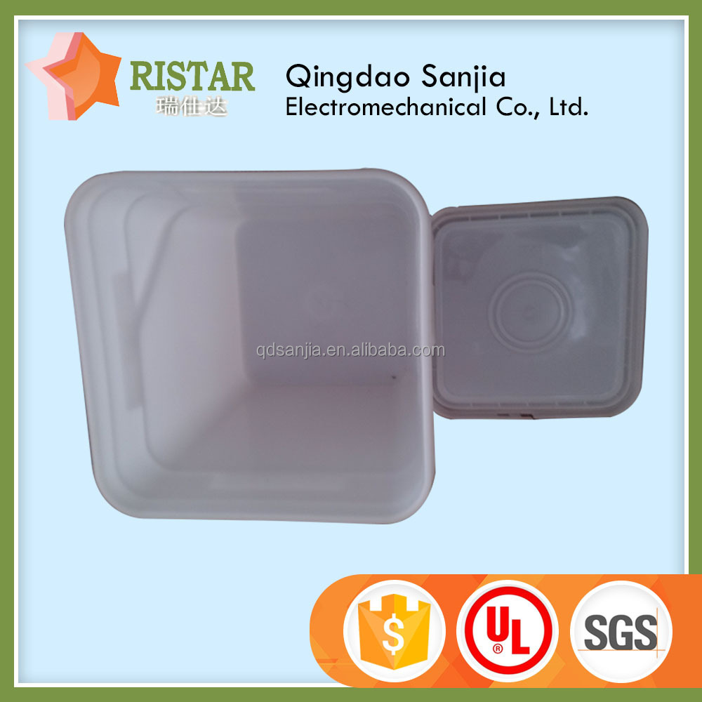 Injection Mold square bucket plastic colored and clear square bucket