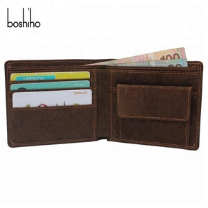 Eco friendly product wholesale men dark brown cork wallet with coin pocket