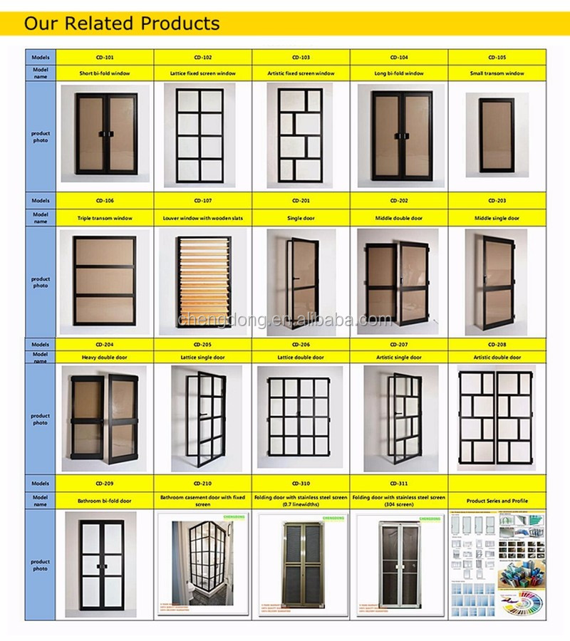 Upvc Profile Grill Design Four Panel Bi Folding Door