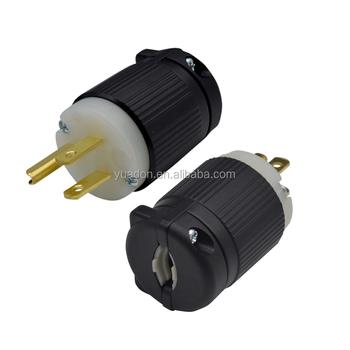 Ul Listed 125v 120v 15amp Industrial Grounding Nema 5 15p Plug 5 15