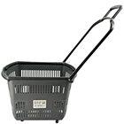 RH-BPR42-1 600*350*360mm gray color supermarket basket with wheels