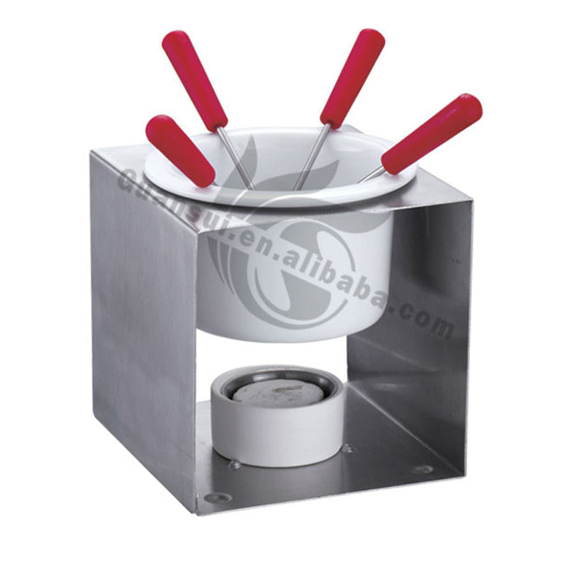 Metalen Chocolade Kaas Fondue Set Melting Pot