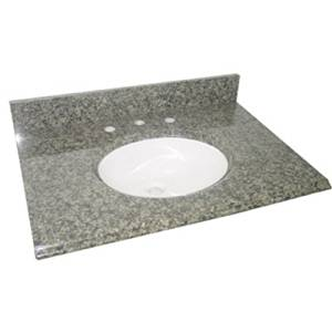 Pegasus PE25829 25-Inch Quadro Granite Vanity Top with White Bowl and 8-Inch Spread