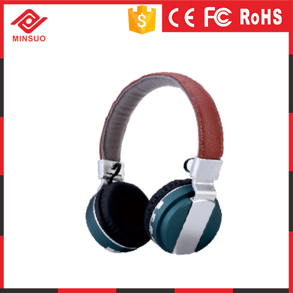 New Leather Classic Bluetooth Wireless Stereo Headset