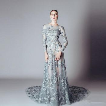 Ald07 Greek Goddess Style Formal Party Gown Lace Appliqued Aqua Long