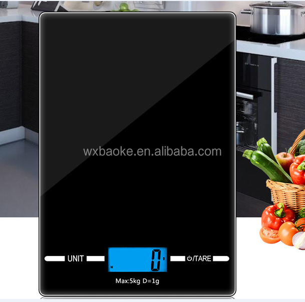 Humanized Design Digital Multi-Function Electrical Kitchen Food Scale 1 g~5 kg Unit: g/oz/ml/lb Tare Zero function