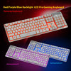 Red/Purple/Blue Backlit Gaming Keyboard Ergonomic Keyboard for PC Keyboard Backlight for Gamer Computer Laptop