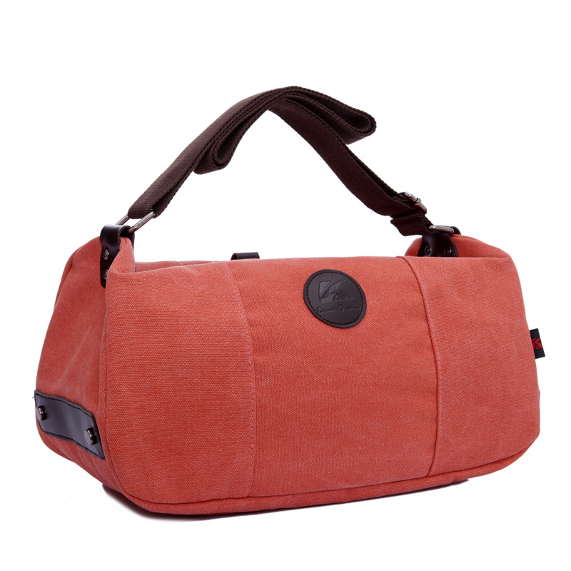 278c123165dc Get Quotations · Casual Panelled Barrel-Shaped Shoulder Bag Rivet Messenger  Bags 2015 Korean Trendy Canvas Tote Bag