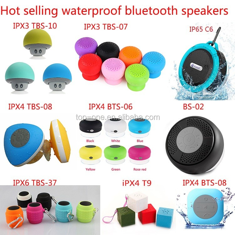 2019 New arrival sucker bluetooth waterproof speaker with lanyard for bathroom