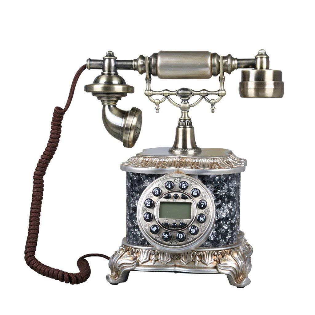 WXL Telephone antique American style high-end creative metal retro European style phone landline (Color : B, Size : L25CMH30CM)