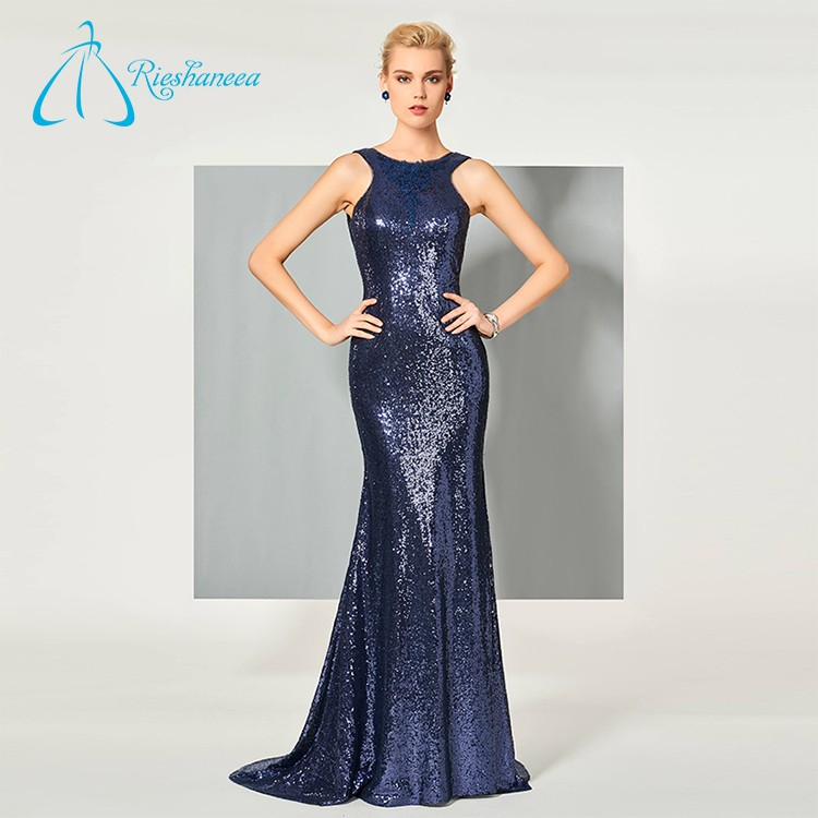 High Quality Backless Sequined Wholesale Led Lights Prom Dress