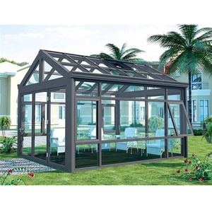 Luxury tempered insulated aluminum sunrooms glass houses