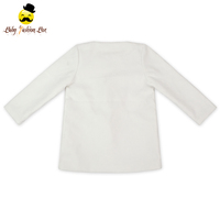 wholesale fashion embroidery white thick woolen coat kids fall winter baby girl coat