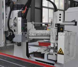 OMNI kitchen cabinet making machine economic type ATC CNC router machine tangential tool and boring unit