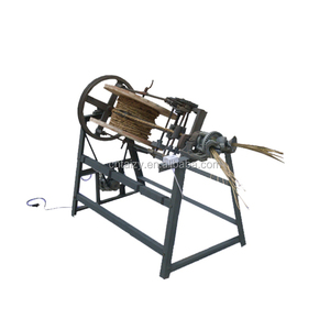 farm used small electric rice straw rope making machine