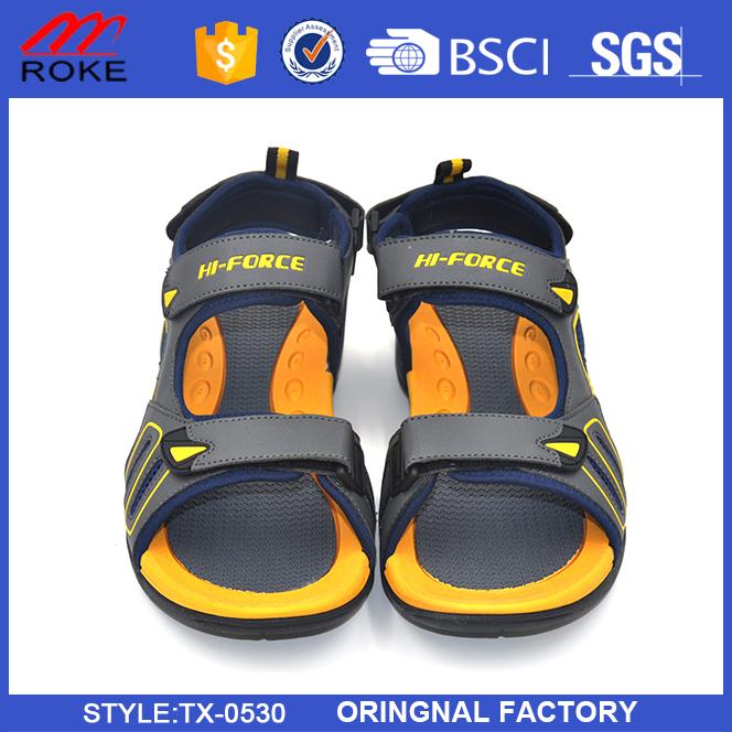 Wholesale new design cheap pu summer beach walk sandals men's