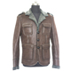 Wholesale winter single breasted men faux suede bomber leather jacket