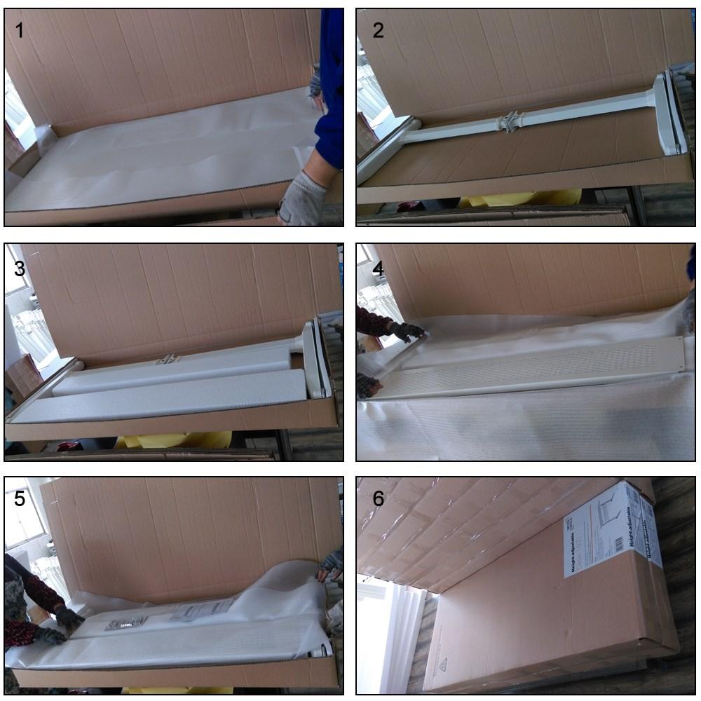 White Ergonomic Design Manual Height Adjustable Sit to Standing Desk