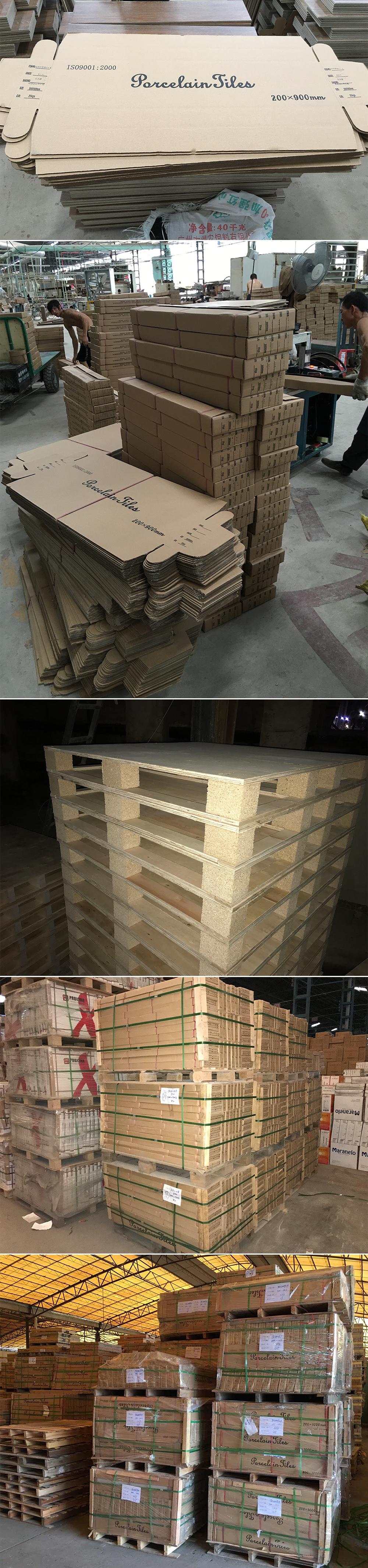 Foshan moderne huis decoratieve 15x60 houten vloertegels standaard maat