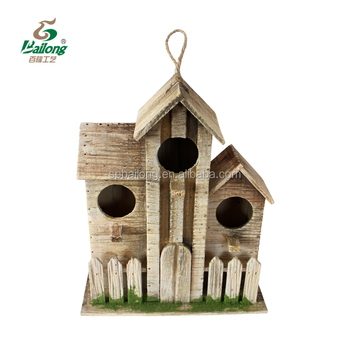 Antique wooden decorative bird houses