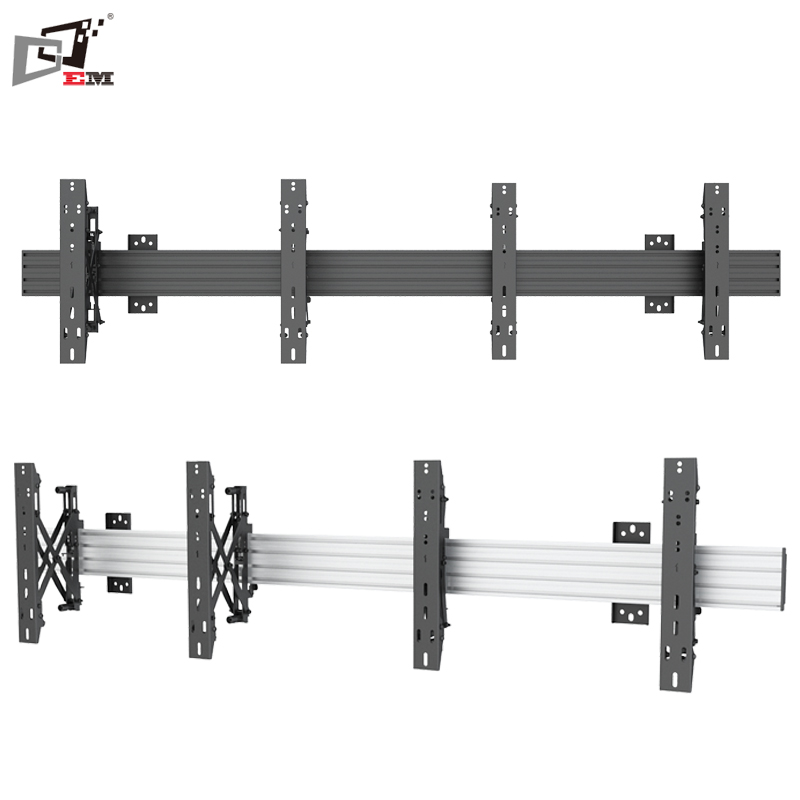 Limitless Qty Support Landscape And Portrait Aluminum Pop Out TV Wall Support