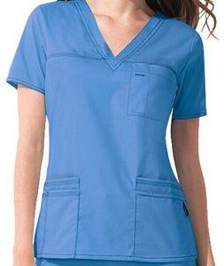 Best Quality Muti-pockets V Neck Poly/cotton Medical Scrub Suit Uniform