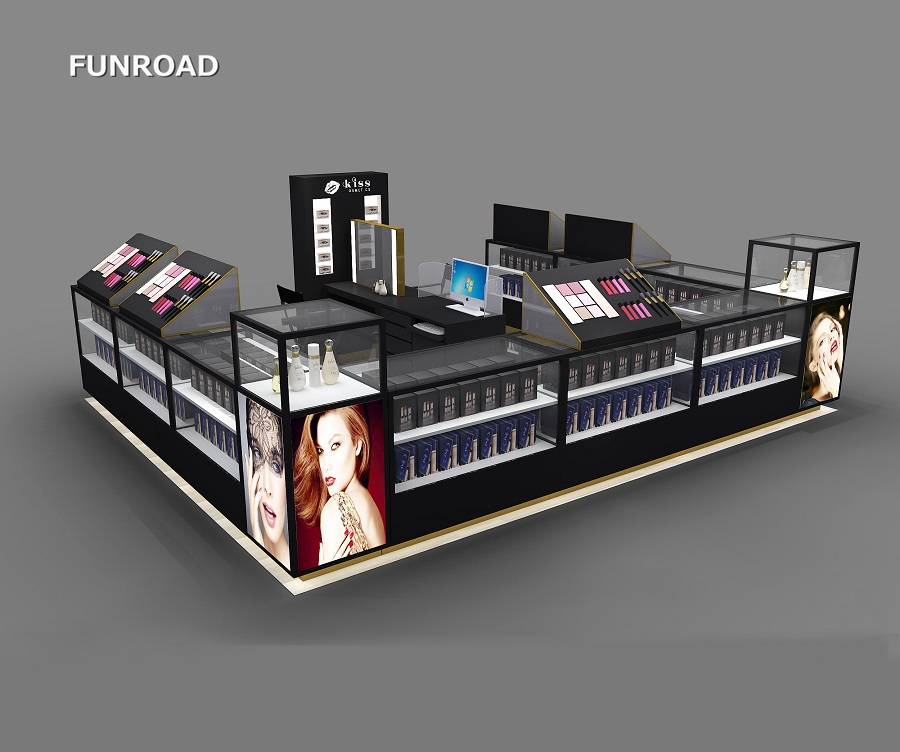 Beauty cosmetic Kiosk Counter Stand for obey your Body