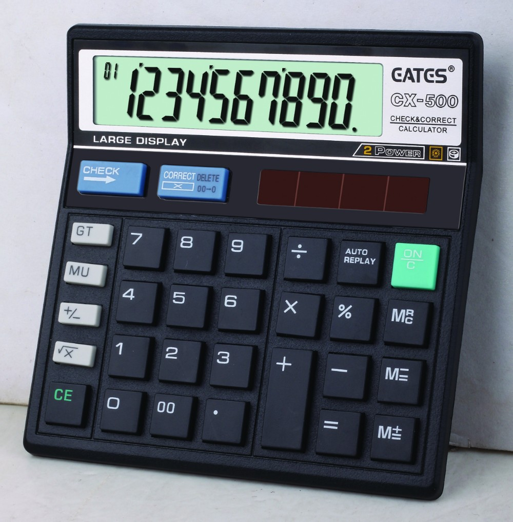 Original factory 10 digit keyboard calculator Solar business financial calculator