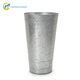 Tall metal galvanized French flower bucket for home garden decor