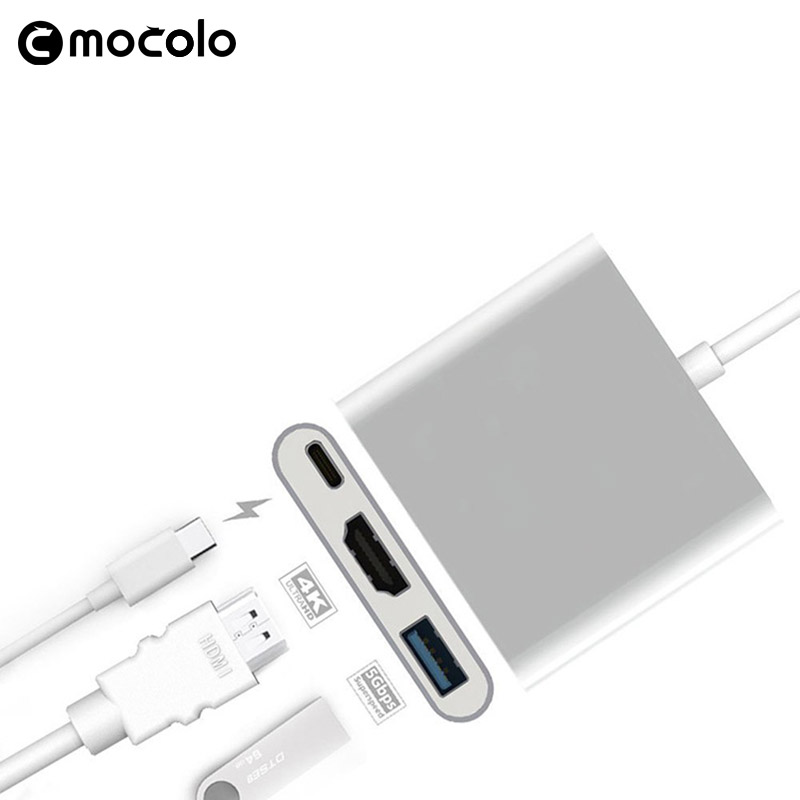 Microphone Usb 3.1 Type C Cable 3.0 Adapter Hub Connector Female Charger To Hdmi Multiport For Macbook