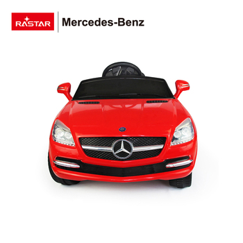 Mercedes SLK licensed Rastar car with music and lights electric ride on car for kids