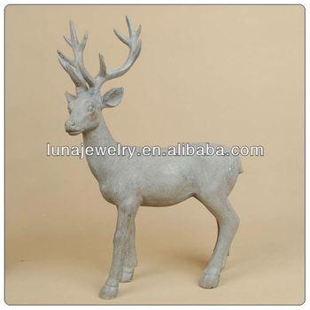 Resin Big Size Deer For Xmas ,Life Size Deer Statue ,garden Figurine Of  Polyresin