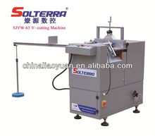 UPVC Windows machineSJVW-65 V-cutting Saw machine for PVC Profile