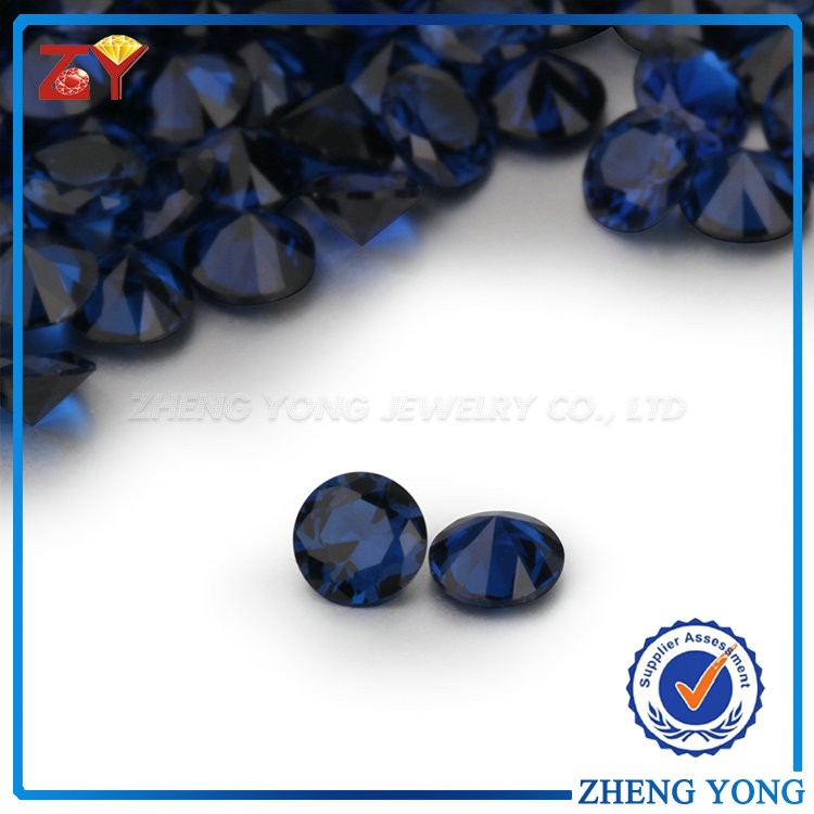 Popular Loose Sapphire 11mm Dark Blue Synthetic Spinel Gemstone