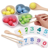 Children Using Chopsticks Clip Beans Educational Toy Beans Fun Chopsticks Practice Kit Game Toy Math Enlightenment Toy