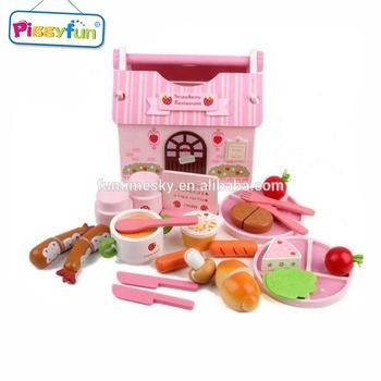 Anak Anak Lucu Pretty Mini Kerajinan Kayu Mainan Dapur Set Buy