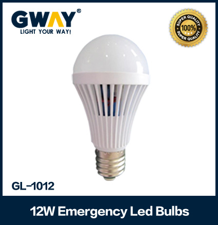 24 SMD home b22/e27 led rechargeable bulb with battery AC/DC 12W