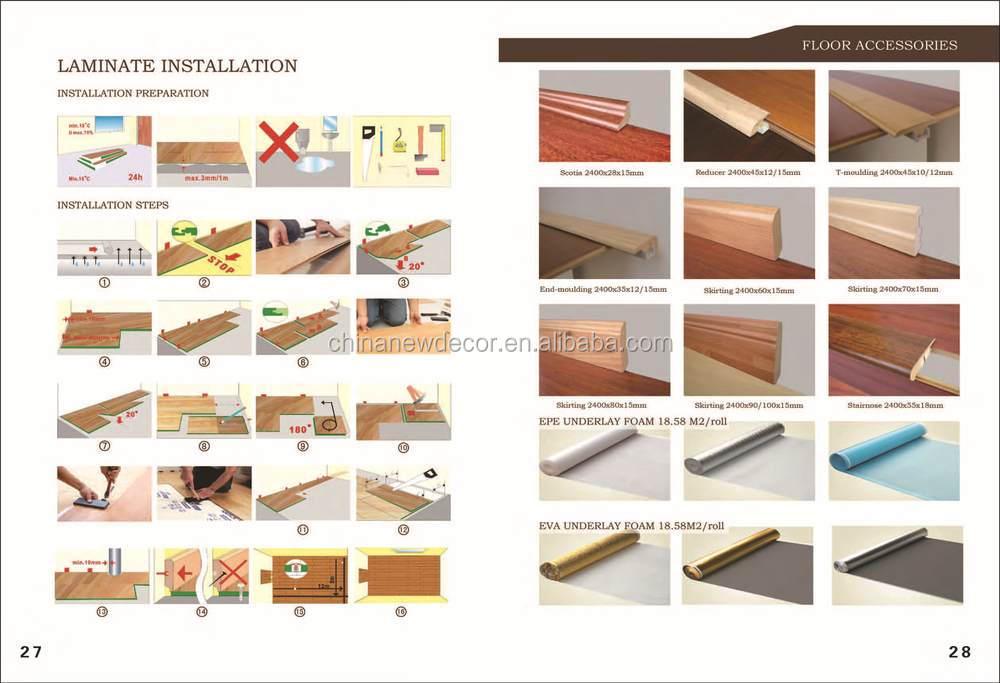 mdf hdf ac1 ac2 ac3 ac4 laminate flooring walnut color pattern