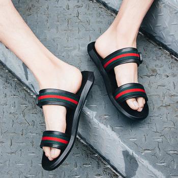 sandalias Al De Cuero Para Chino Zapato Deporte Cuero Mayor Diapositivas Hombre Zapatillas Deslizantes Sandalias Por Buy Yf76byg