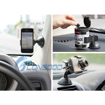 Wholesale silicone lined gried grid Car Phone Holder meets ROHS standards