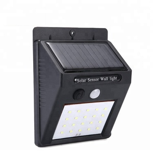 decorative hot sell chinese good quality ABS material human induction waterproof IP65 motion sensor outdoor led solar wall light