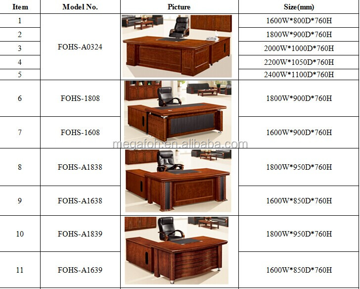 Eexecutive Office Desk With Moving Side Table For Office Or Home