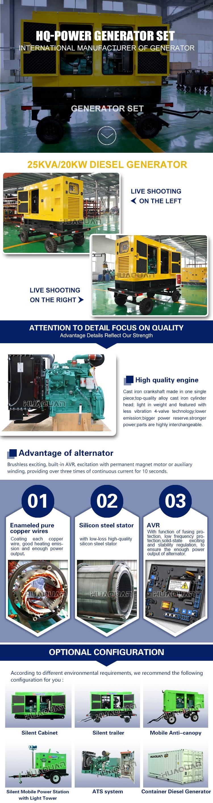 25kva 20kw Diesel Generator Portable Mobile Genset Buy Diesel